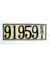 old New York metal license plates 9