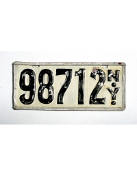 old New York metal license plates 10
