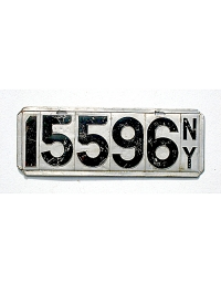 old New York metal license plates 1
