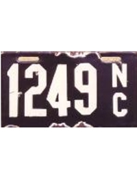 old North Carolina porcelain license plates