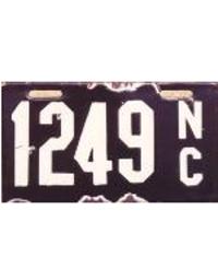 old North Carolina porcelain license plates