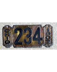 old Ohio brass license plate 1