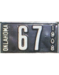 old Oklahoma metal license plates 4