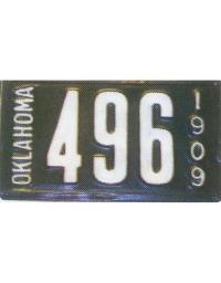 old Oklahoma metal license plates 5
