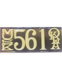 old Oklahoma metal license plates 1
