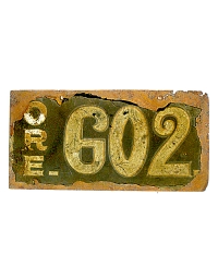 old Oregon metal license plates 2