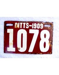 old Pennsylvania metal license plates 9
