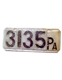 old Pennsylvania metal license plates 6
