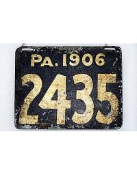 old Pennsylvania metal license plates 1