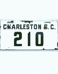 old South Carolina porcelain license plates