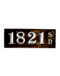 old South Dakota leather license plate 2