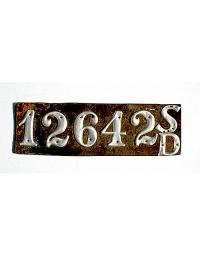 old South Dakota leather license plate 7