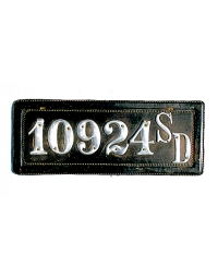 old South Dakota leather license plate 6