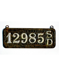 old South Dakota leather license plate 8