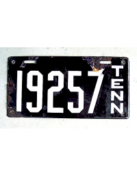 old Tennessee metal license plates 1