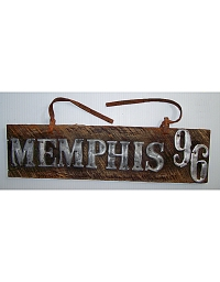 old Tennessee wooden license plate