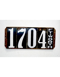 old Texas leather license plate 15