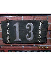 old Texas leather license plate 2