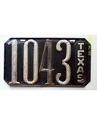 old Texas metal license plates 1