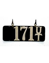 old Utah leather license plate