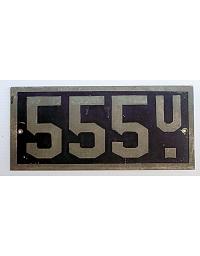 old Utah brass license plate