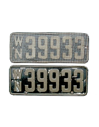 old Washington metal license plates