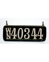 old Washington leather license plate 3