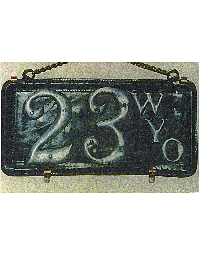 Old Wyoming License Plates | Vintage Wyoming License Plates