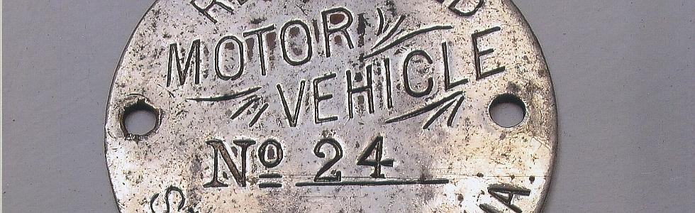 old California aluminum dashboard disc