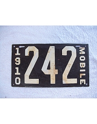 old Alabama porcelain license plates 6