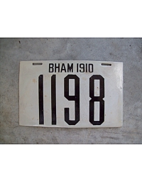 old Alabama porcelain license plates 7