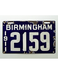 old Alabama porcelain license plates 1
