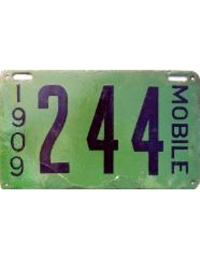 old Alabama porcelain license plates 3