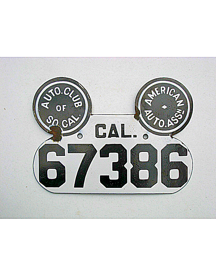 Old California License Plates | Vintage California License Plates