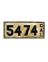 Vintage California License Plates 2