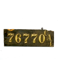 Vintage California License Plates 8