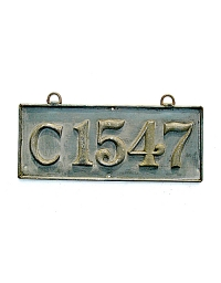 old Connecticut brass license plate