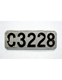 old Connecticut stamped license plates