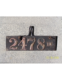 old District of Columbia wood license plate