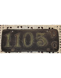old District of Columbia leather license plate 2