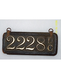 old District of Columbia leather license plate 1