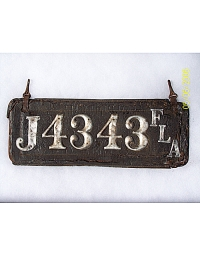 old Florida leather license plate 2