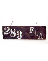 old Florida wooden license plate