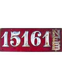 vintage license plates nebraska