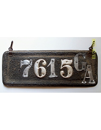 old Georgia leather license plate 2