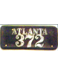 old Georgia leather license plate 1