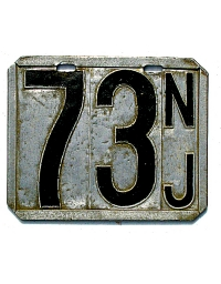 old metal license plates new jersey