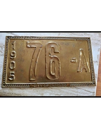 old Illinois brass license plate 13