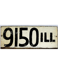 old Illinois metal license plates 4