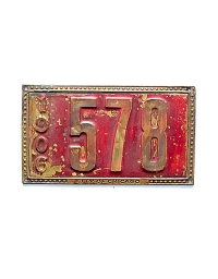 old Illinois brass license plate 9